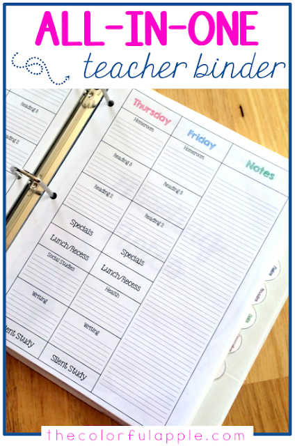 Teacher organization is so important. See how this teacher planner is organized to include everything for the school year.