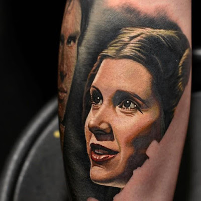 Tatuaje de Carrie Fisher (Princesa Leia)