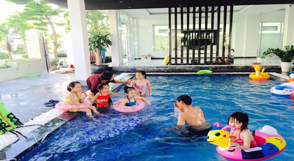Bể bơi trong biệt thự FLC Đồ Sơn