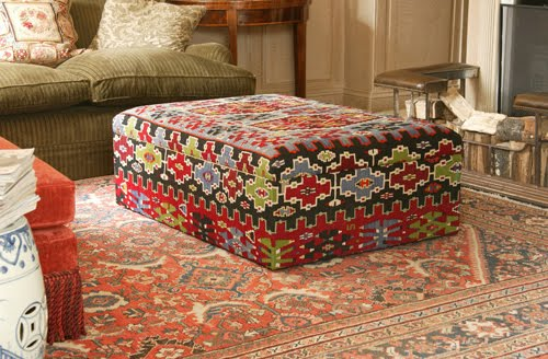 Large Storage Ottoman, Lovely Fabric