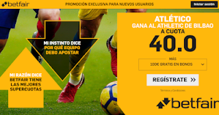 betfair supercuota Atletico gana al Athletic 10 noviembre