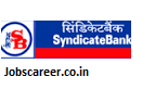 Syndicate Bank Recruitment of Sweepers for 64 posts Last Date 25 January 2017