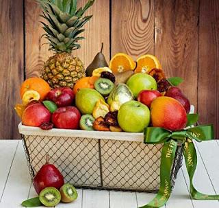 Fresh Fruits Basket: Pineapple, Oranges, Apples, Pears, Kiwis, Mango - The Fruit Company