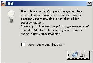VMware in Linux : The virtual machine's operating system has