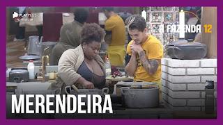 A Fazenda 12 - Peões imaginam  próxima festa - Jojo almoço - Lidi conversa sozinha