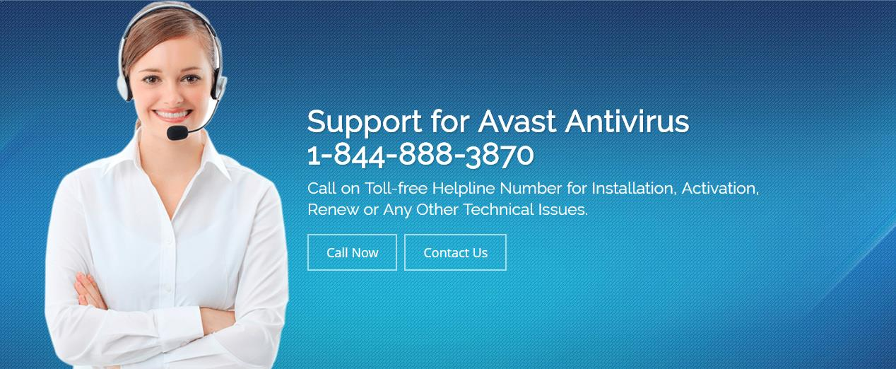Avast Antivirus Technical Support Number 1-844-888-3870