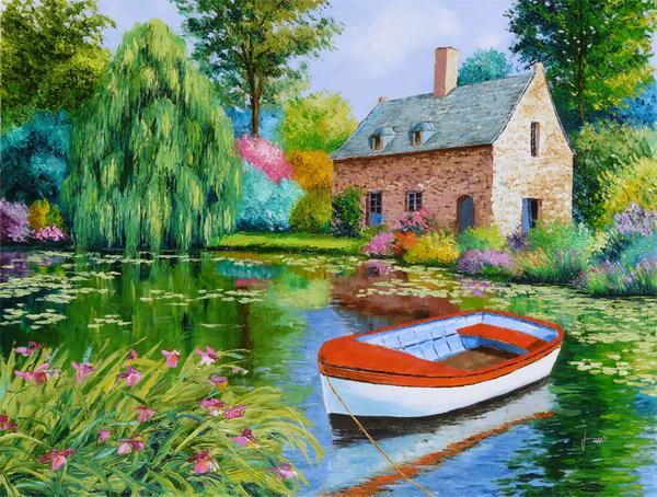 Casa na Lagoa - Cores alegres e vibrantes nas paisagens de Jean-Marc