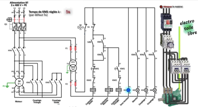 star delta 3-phase motor wiring diagram