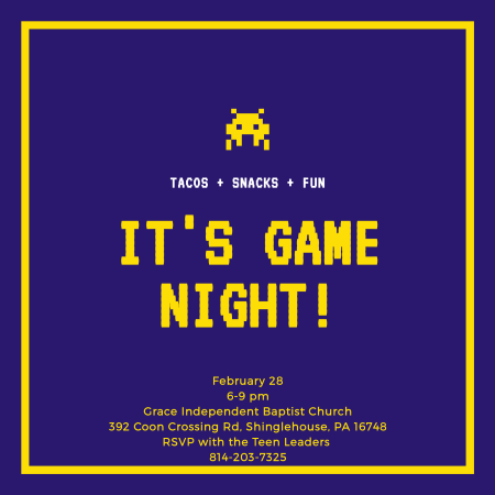 2-28 Teen Game Night