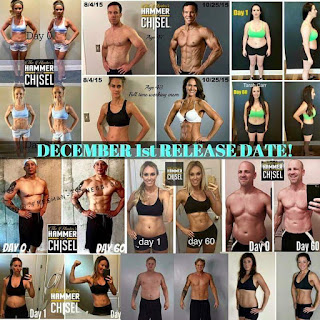 hammer and chisel, before and after, beachbody