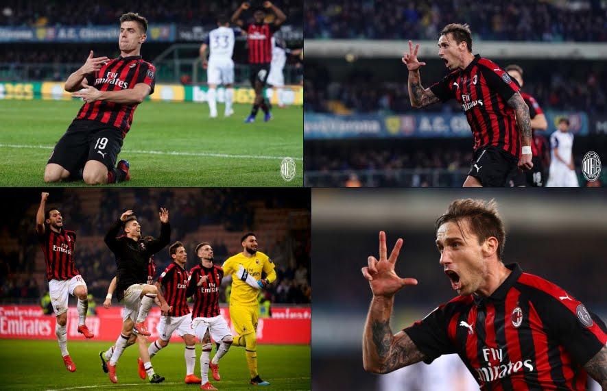Chievo-Milan 1-2, rossoneri alla 5a vittoria consecutiva in Serie A.