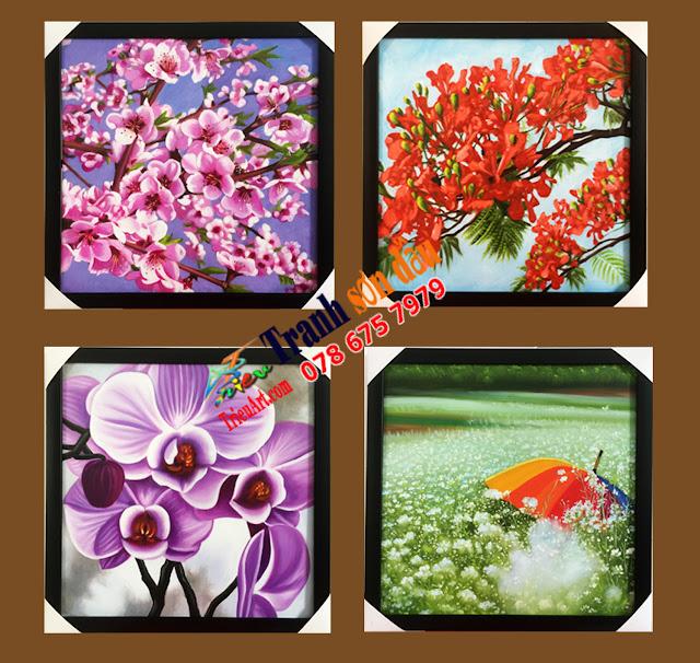 tranh bộ tĩnh vật hoa