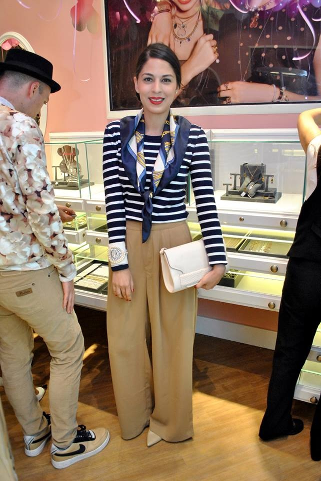 Pamela Victoria en lanzamiento tienda Tous concepción