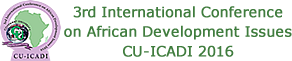 CU-ICADI 2016: 3rd International Conference on African Development Issues. 09 -11 May 2016