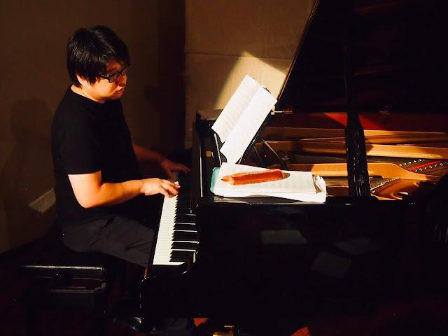ピアノ:三枝伸太郎  2018年10月27日  喜多直毅クアルテット『文豪』@公園通りクラシックス・リハーサル風景