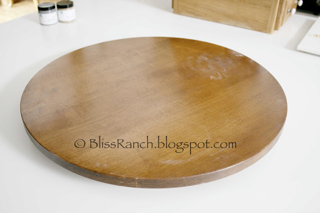 Thrift Store Decor Lazy Susan Makeover, Bliss-Ranch.com