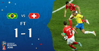 Brasil vs Swiss 1-1 Highlights - Piala Dunia 2018