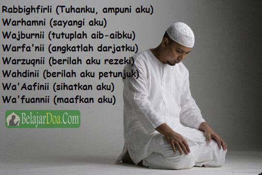 Lafal Bacaan Doa Duduk Diantara Dua Sujud Iftirasy Yang Benar Sesuai Sunnah Muhammadiyah dan NU