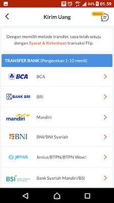 Aplikasi transfer uang bri