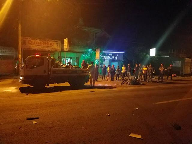 Hai xe máy đấu đầu, 1 người chết tại chỗ