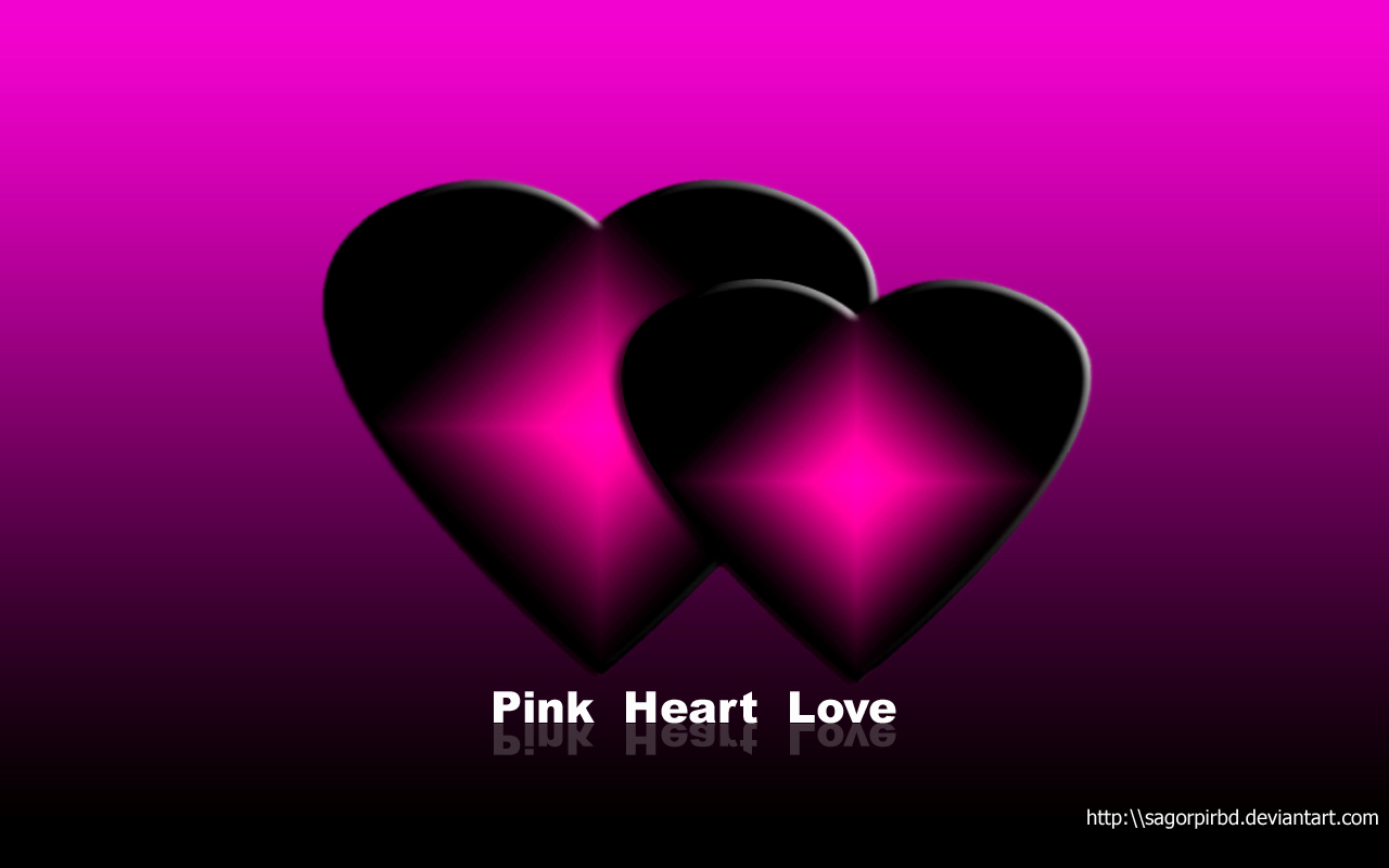Pink Love Wallpaper: Love Heart Wallpaper