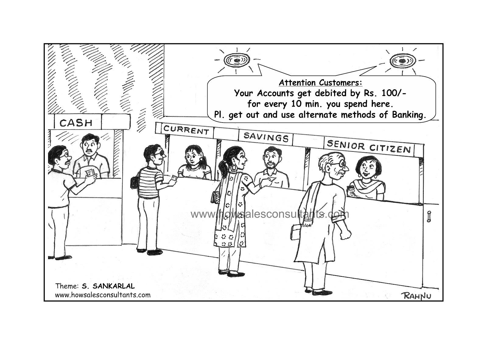 Sankarlal's Cartoons: Banking