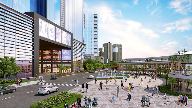Quảng trường trung tâm cảu dự án Kim Long Ocean
