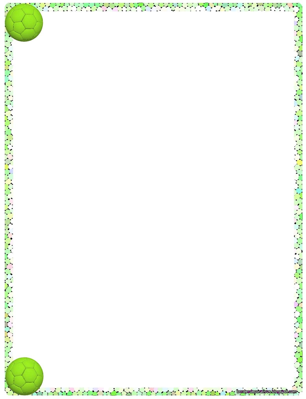 Bordes decorativos bordes decorativos de hojas de f tbol - Pagina de decoracion ...
