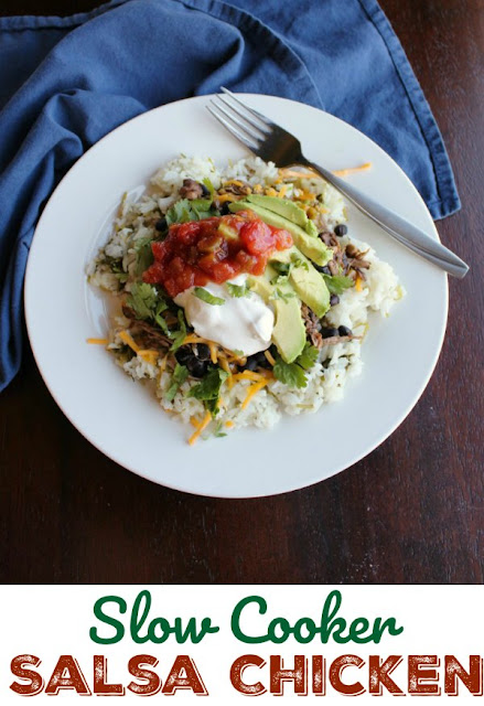 Make a delicious Mexican inspired meal while you do other things! This salsa chicken is so full of flavor and makes the best burrito bowls. Dinner is served!