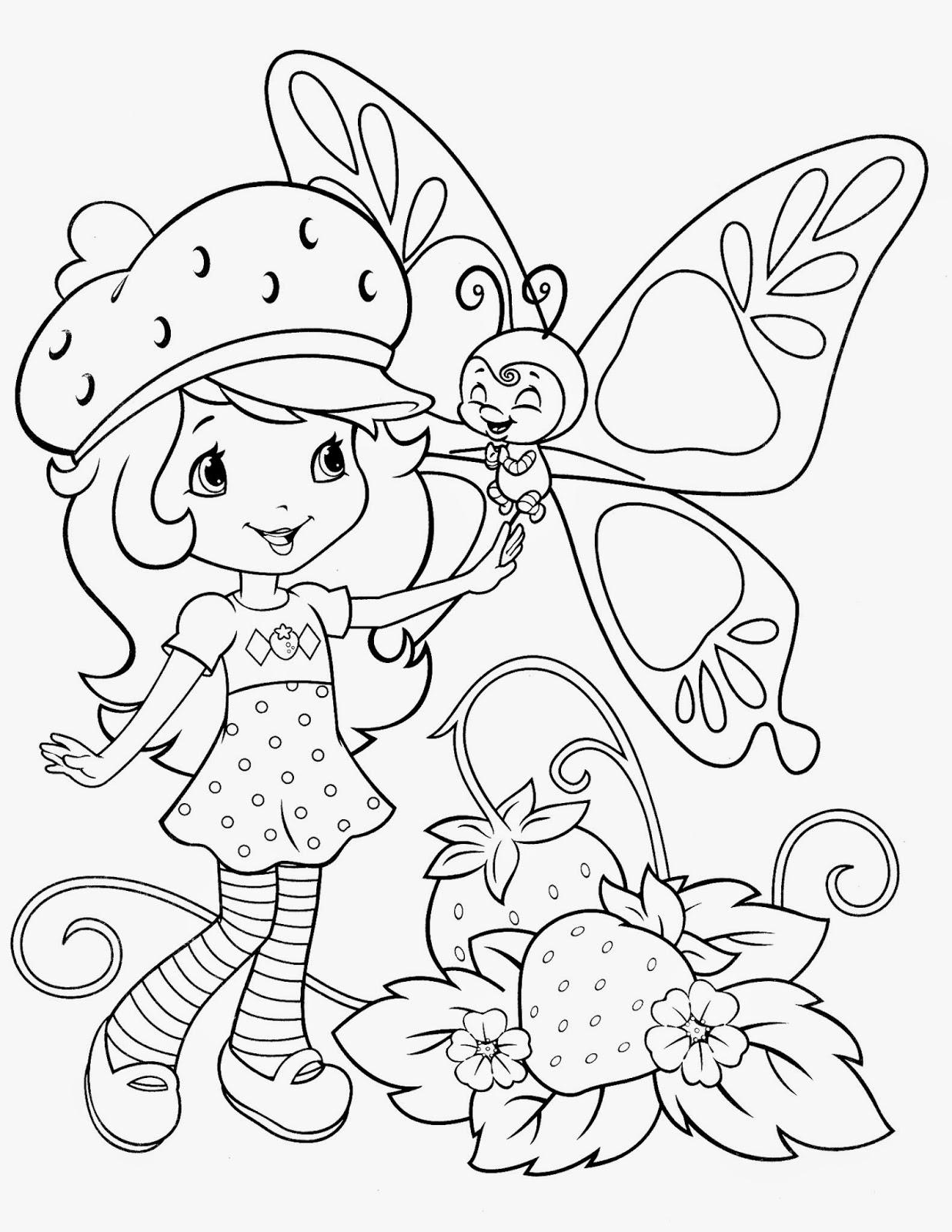 Desenhos de Moranguinho e sua turma para colorir, pintar, imprimir!