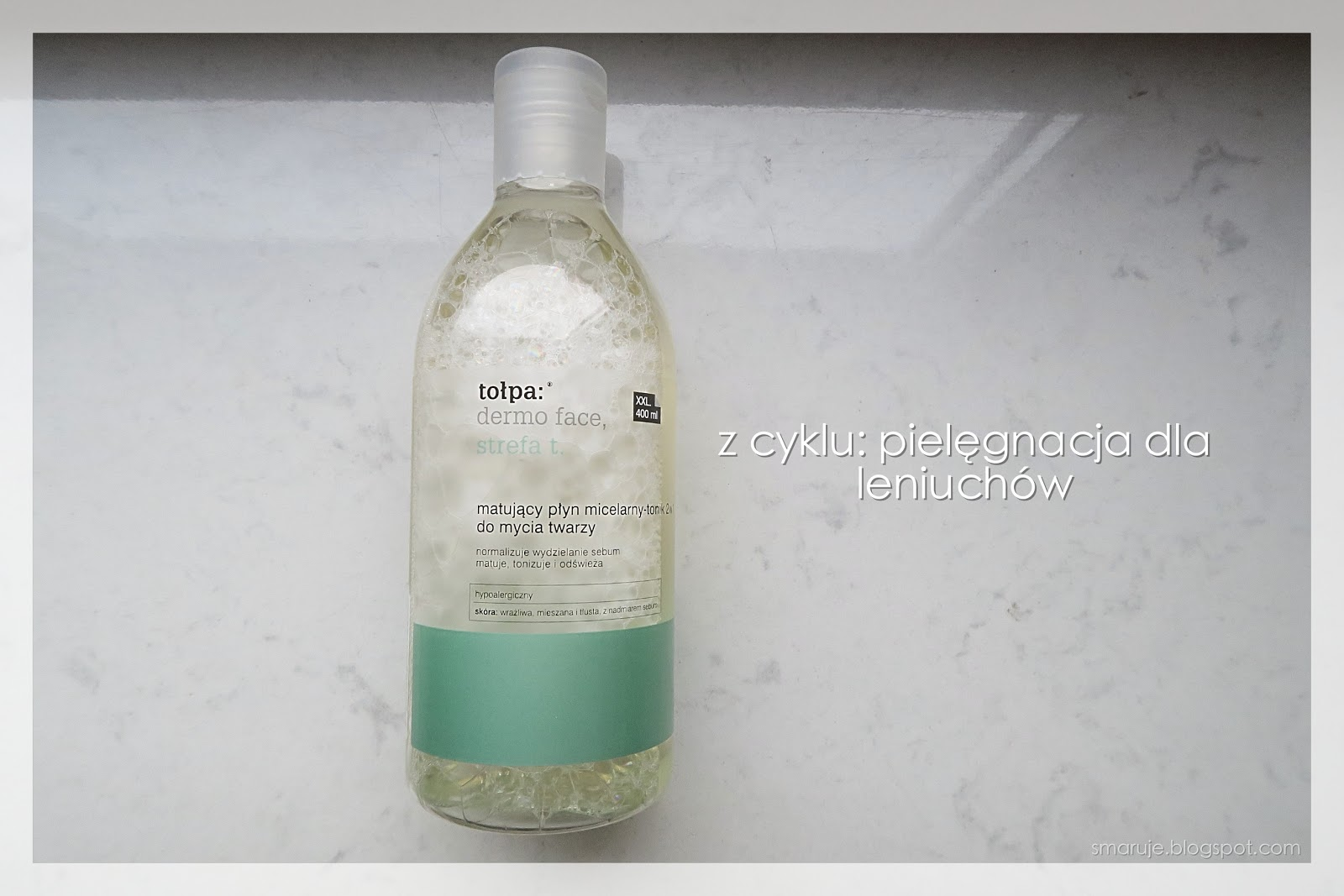 Tołpa dla leniwych: Dermo Face, strefa T –Matujący płyn micelarny-tonik 2w1 do mycia twarzy