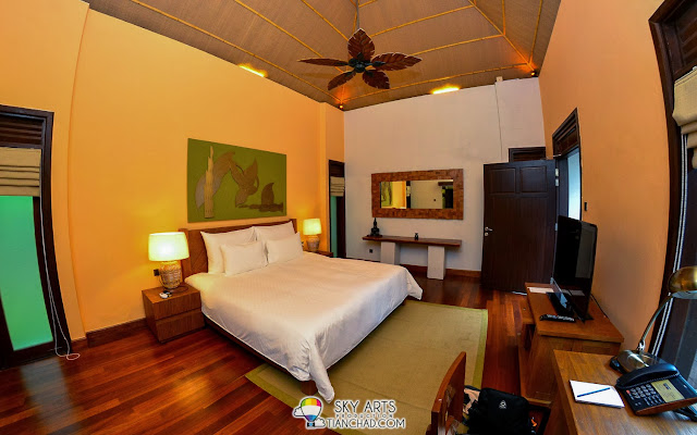 The master bedroom in Water Villa @ The Banjaran