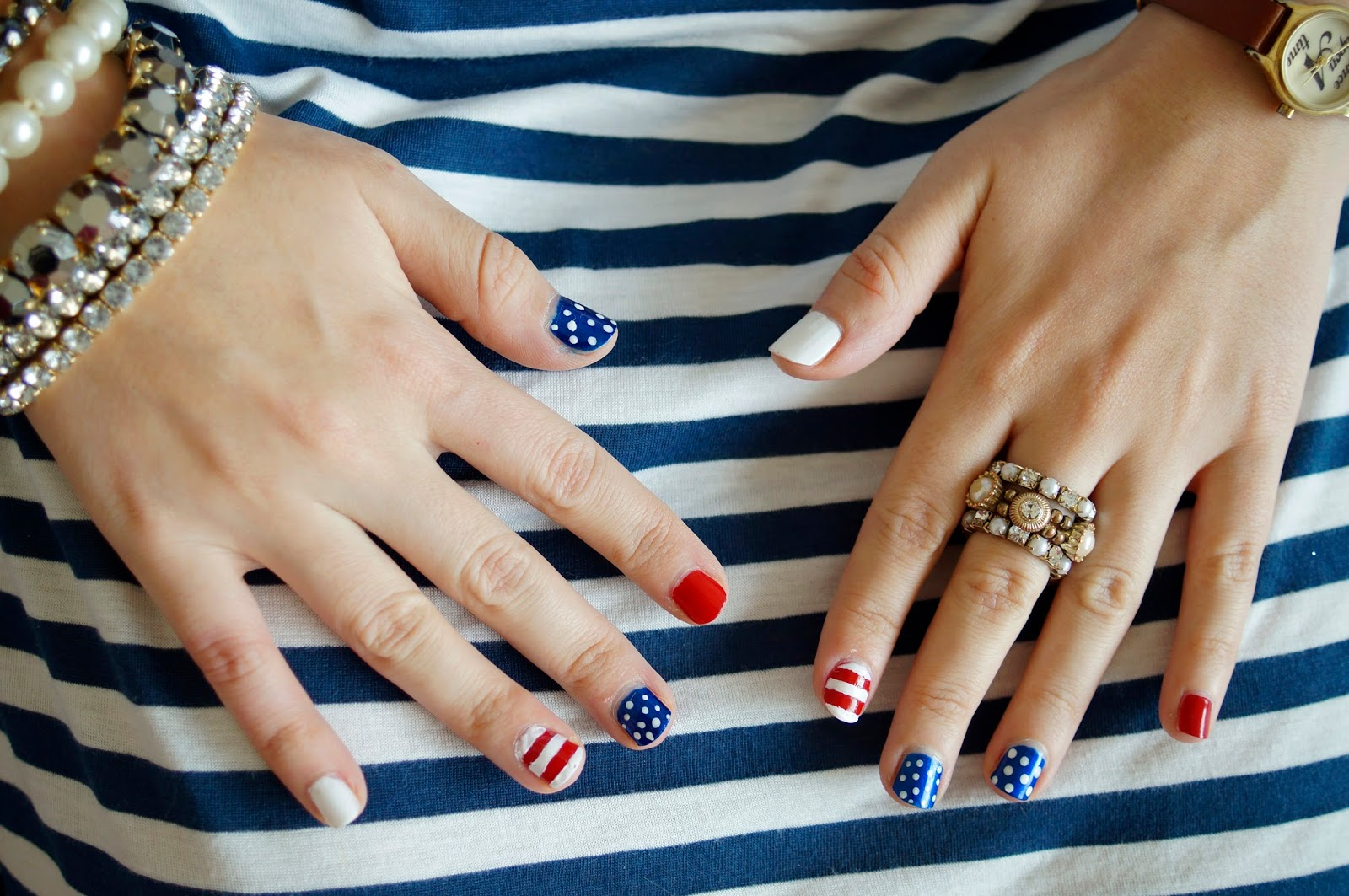 Patriotic Nails, 4th of July Nails