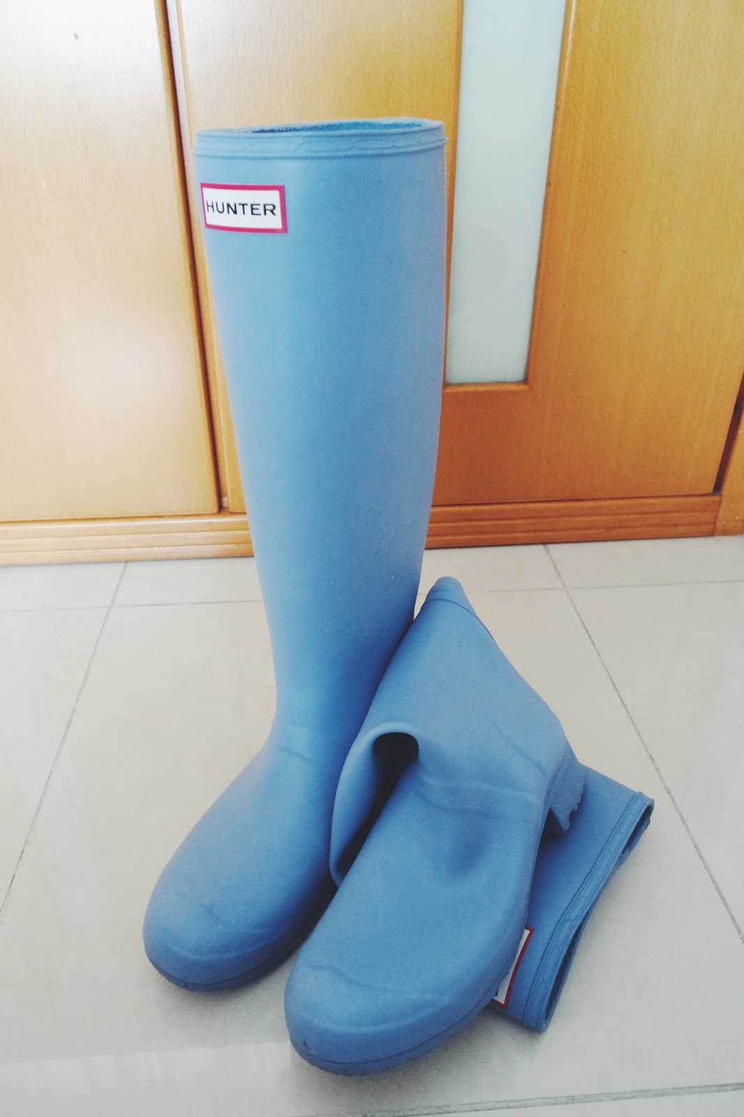 hunter boots original tour blue lily