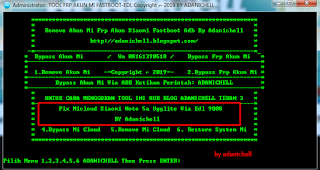 Tool Micloud Mi Redmi 5 Ugglite