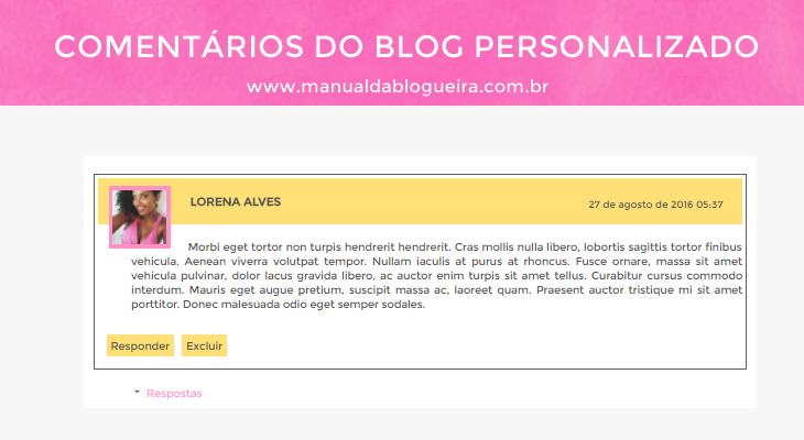 Como personalizar os comentários do blog