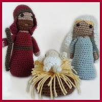 San José, Virgen y niño amigurumi
