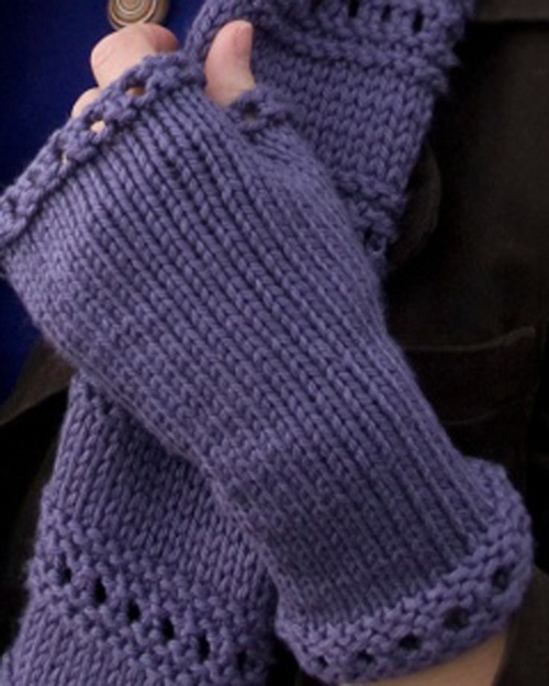 Beginner Montgomery Fingerless Mitts - Free Pattern