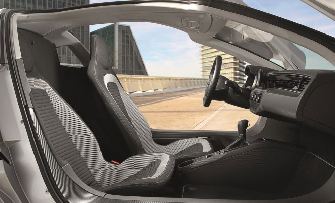 Volkswagen XL1 production car interior