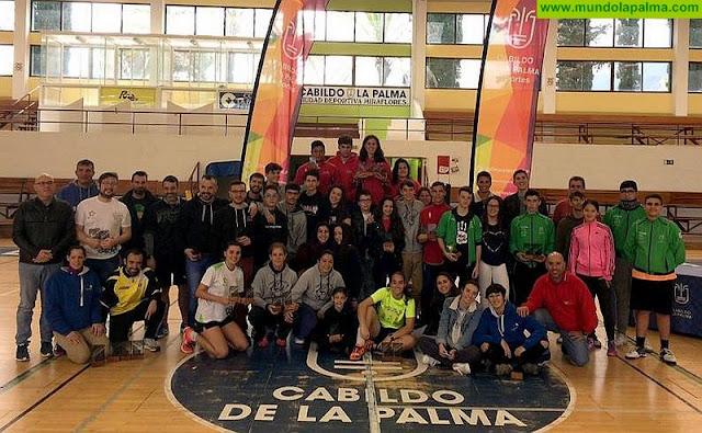 Jóvenes de Fuerteventura y veteranos de Tenerife destacan en el Campeonato Senior A2 y Sub-19 de Bádminton celebrado en La Palma