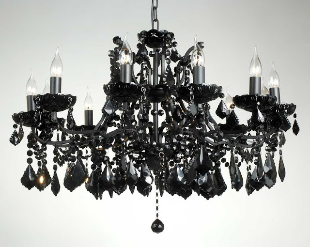 black crystal chandelier elegant