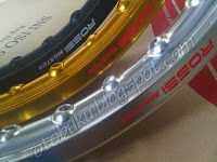 Velg Rossi Master Warna Hitam, Emas, dan Silver
