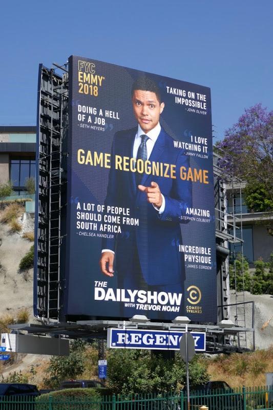 Daily Show Trevor Noah 2018 Emmy FYC billboard