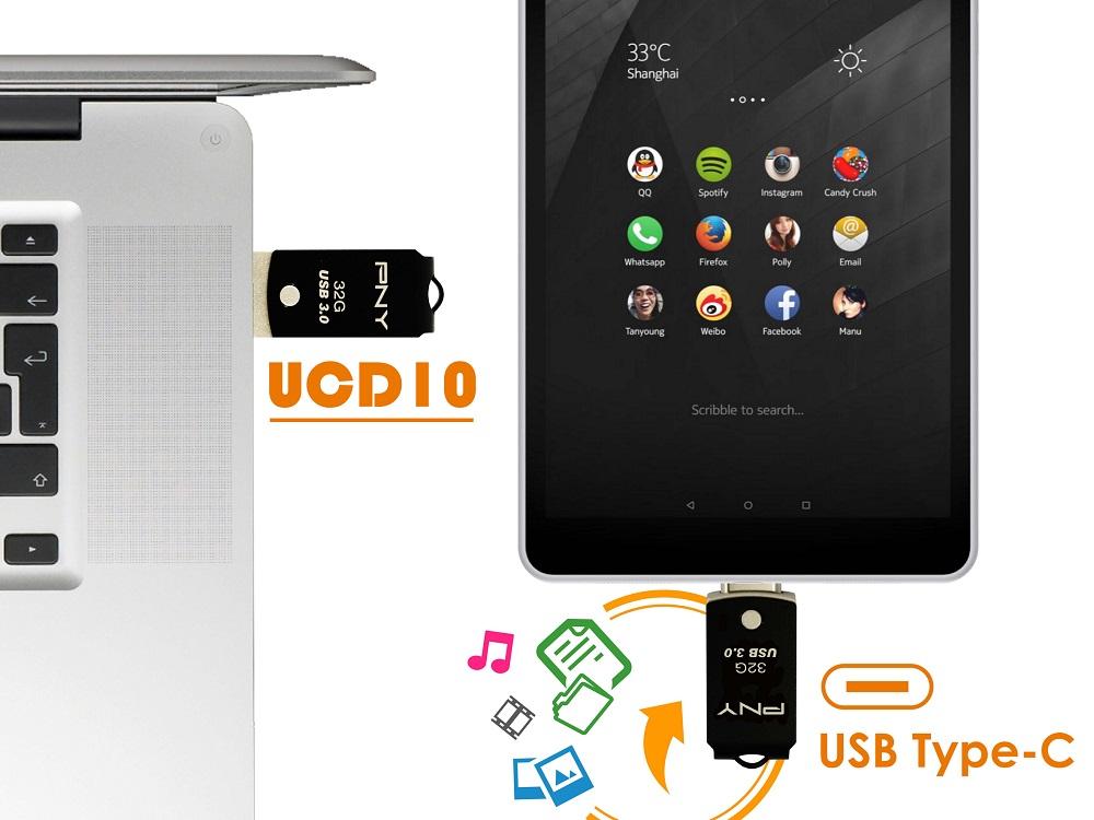 PNY UCD10 Type-C OTG Flash Drive