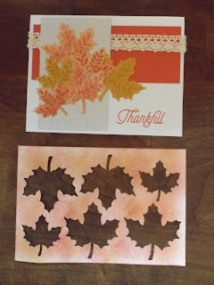 CTMH Cards For Fall Sponging Tip