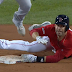 JD Martinez starts home run trot, nearly tagged out at second base