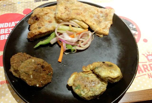 Baida Paratha with Kababs
