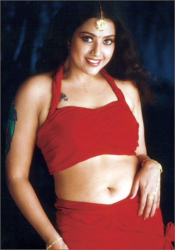 Anushka Hot Meena Navel-8936