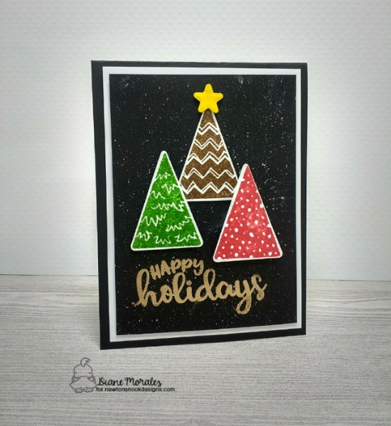 Happy Holidays by Diane features Festive Forest and Seasons of Sentiments by Newton's Nook Designs; #newtonsnook