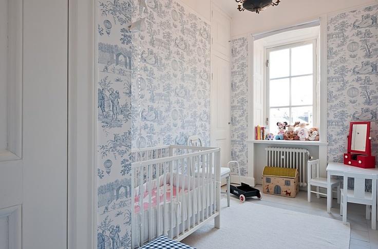 Pretty Pretty Home Inspiration Wallpaper In The Nursery